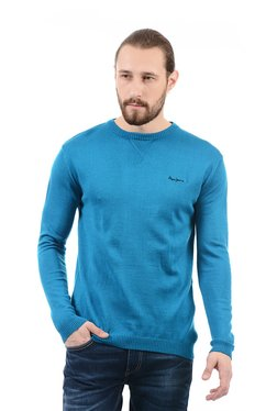 Pepe Jeans Blue Regular Fit Crew Neck Sweater