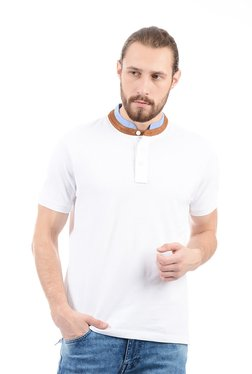 Pepe Jeans White Band Collar T-Shirt