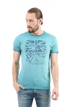 Pepe Jeans Light Blue Slim Fit Cotton T-Shirt