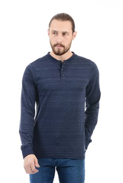 Pepe Jeans Navy Slim Fit Henley T-Shirt