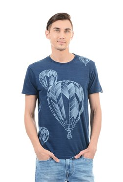 Pepe Jeans Dark Blue Regular Fit Cotton T-Shirt