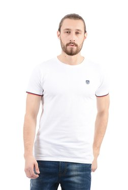 Pepe Jeans White Slim Fit Cotton T-Shirt