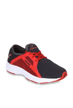 Furo By Red Chief Red & Black Running Shoes