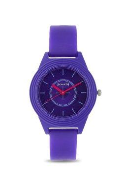 f59b06790 Sonata Kids 87024PP01 Color Pop Analog Watch for Girls