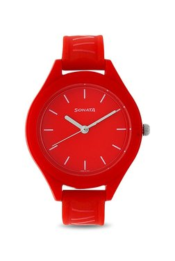 214e0c89a7d Sonata Kids 87023PP01 Color Pop Analog Watch for Girls