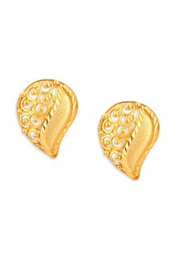 Tanishq Paisley 22k Gold Earrings