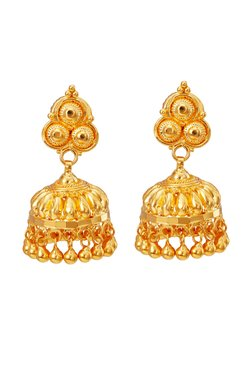Tanishq Jhumka 22k Gold Earrings