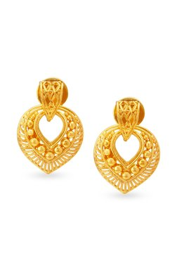 Tanishq Tear 22k Gold Earrings