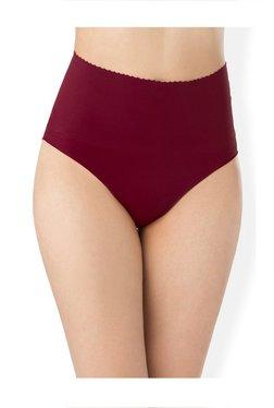 PrettySecrets Maroon Seamless Shape Up Bikini