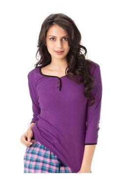 PrettySecrets Purple Textured Cotton Top