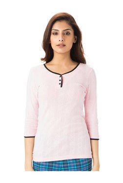 PrettySecrets Pink Textured Cotton Top
