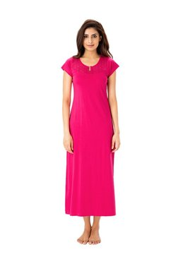 PrettySecrets Berry Lace Cotton Nightdress d78900473