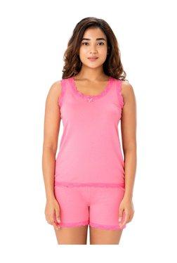 PrettySecrets Rose Pink Cotton Tank & Shorts Set