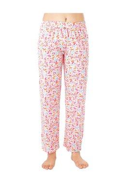 PrettySecrets Ivory Leaf Floral Print Cotton Pyjamas