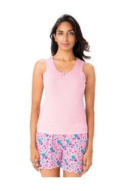 PrettySecrets Rose Pink Cotton Tank Top