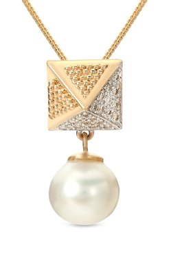 Mia by Tanishq Rectangle 14k Gold & Diamond Pendant