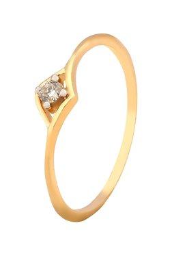Tanishq Crescent 18kt Gold Diamond Ring
