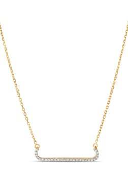 Mia by Tanishq 14 kt Gold & 0.13 ct Diamond Necklace