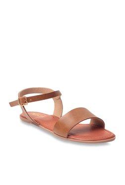 GNIST Dark Tan Ankle Strap Sandals