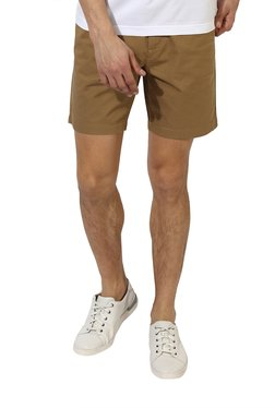 Red Tape Brown Slim Fit Shorts