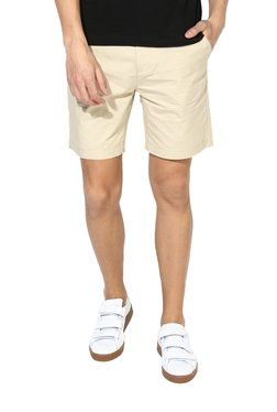 Red Tape Beige Slim Fit Shorts