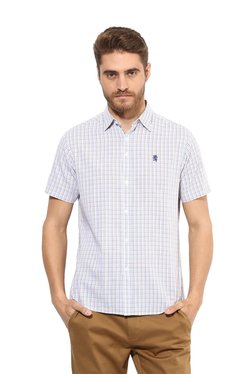 Red Tape Blue & White Half Sleeves Checks Shirt
