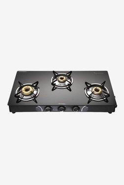 Preethi Blu Flame Sparkle GTS 104 3 Burners Gas Stove (Black)