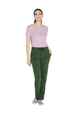 Enamor Duck Green Cotton Lounge Pants