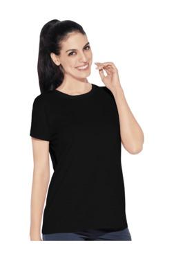 Enamor Jet Black Cotton T-Shirt 06565b0f5