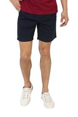Red Tape Navy Mid Rise Shorts