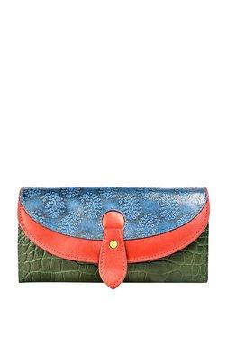 2a9ddb01a373 Holii Cinnamon W3 Olive Green   Navy RFID Flap Wallet