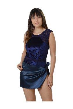 Da Intimo Blue Lace Bodysuit With Repron