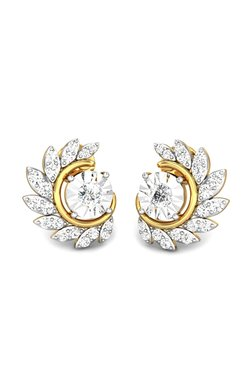 Candere By Kalyan Jewellers Red Indian 18k Gold 0 33 Ct Diamond Earrings