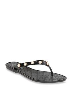 Carlton London Black Thong Sandals