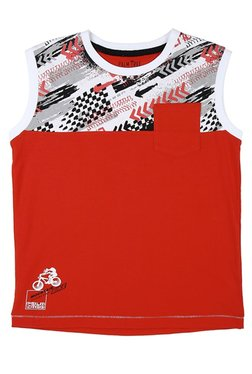 70a07d1cbb8 Gini   Jony Kids Palm Tree Red Printed Sando