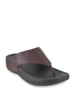 0b341bd60aa8d9 Mochi Dark Brown Thong Sandals