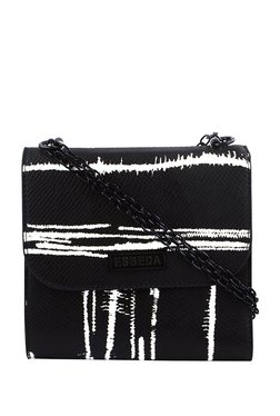 Esbeda Black & White Printed Sling Bag - Mp000000002966111