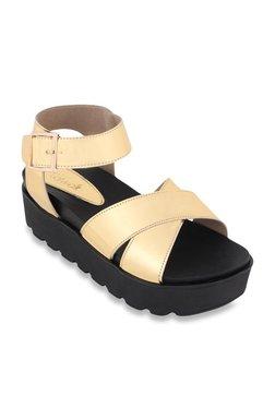 46c485b641e96 Catwalk Golden Ankle Strap Sandals