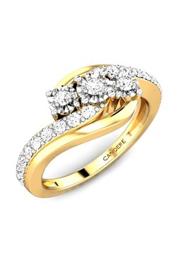 Candere By Kalyan Jewellers Charulekha Miracle 18k Gold 0 35 Ct Diamond Ring