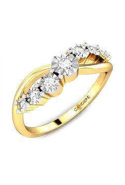 Candere By Kalyan Jewellers Journey Miracle 18k Gold 0 07 Ct Diamond Ring