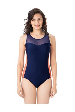 348e381a8 PrettySecrets Navy Nylon Swimsuit