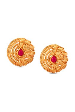 Tanishq Circle 22kt Gold Earrings