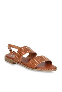 Truffle Collection Dark Tan Back Strap Sandals