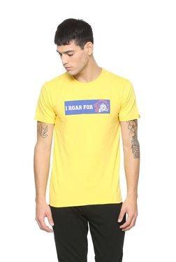 Peter England Yellow Crew Neck T-shirt