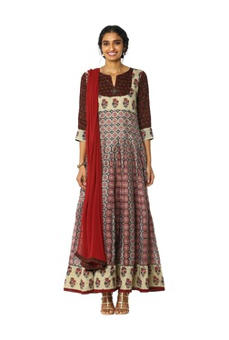 Soch Multicolor Cotton Anarkali Kurta With Salwar