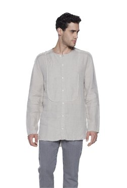 ETA By Westside Beige Slim Fit Linen Shirt