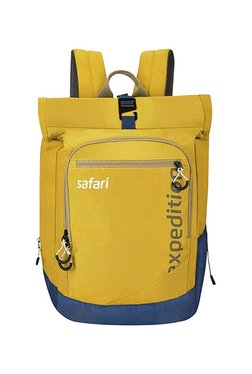 8dd1d33de3 Skybags Komet 03 Yellow   Blue Printed Nylon Laptop Backpack Best ...
