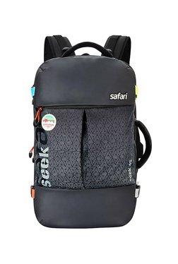 Safari Black Textured Laptop Travel Backpack
