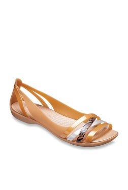c5e232b8ad27 TATACLIQ. Crocs Isabella Huarache 2 Golden   Silver Casual Sandals