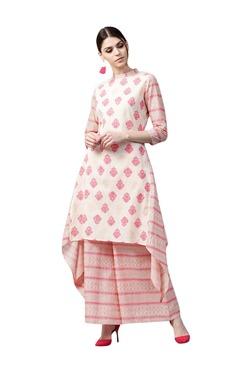 Gerua Pink Floral Print Cotton Kurta With Palazzo